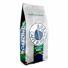 6 BUSTE CONFEZIONI DA 1 KG CAFFE' BORBONE IN GRANI MISCELA DEK DECAFFEINATO