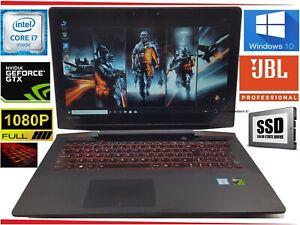 "17.3"" Lenovo Y700 Gaming Laptop Intel i7 Quad 16GB 128GB SSD + 1000GB Win10 GTX"