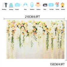 Flower Painted Wall Backdrop Photography Wedding Photo Background Studio Prop