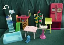 Unique Lot of Barbie Furniture & Accessories, Pet Grooming, Dental Hygienist