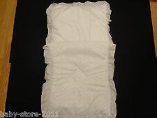 Beautiful Pram Quilt and Pillow And  case Set  WHITE   suitable for MOST PRAMS