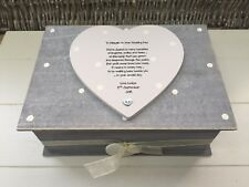Shabby RUSTIC Chic LARGE Box For Bride From Bridesmaid Wedding personalised Gift