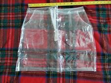 "ADULT CLEAR PLASTIC MINI SKIRT  IN PVC, SIZE M MEDIUM,  26""-29"" WAIST APPROX"