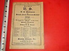 JE445 Vntg 1941 Price List US British North American Stamps Stanley Gibbons Inc