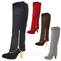 SEXY WOMENS BOOTS LADIES KNEE THIGH HIGH HEELS SHOES OVER THE KNEE SIZE