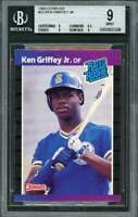 1989 donruss #33 KEN GRIFFEY JR seattle mariners rookie card BGS 9 (9 9.5 9 9)