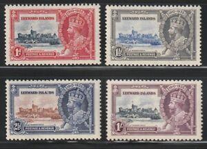 Leeward Is.   1935   Sc # 96-99   Silver Jubilee   MLH   OG   (4024-1)
