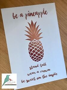 Inspirational motivational quote typography style pineapple print A4 / A3