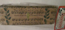 Traditions-vintage-18 ft- Christmas Hymn-wire edge garland