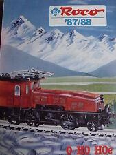 Catalogo ROCO 1987-88 - 0 H0  - ITA - Tr.1