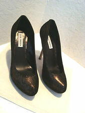 New Steve Madden Woman Fantasha Black Gold Pumps Heels 10 Medium