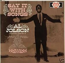 AL JOLSON ~ SAY IT WITH SONGS ~ 1963 UK 12-TRACK MONO LP ~ ACE OF HEARTS AH 87
