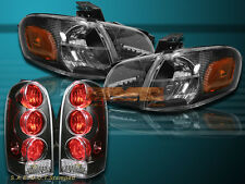 97-04 Chevy Venture /Silhouette Black Headlights + Tail Lights Black Housing