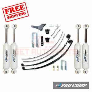 """Pro Comp 4"""" Lift Kit 99-04 Ford F250/F350 w/2.5"""" Factory Blocks/1 Pc Driveshaft"""