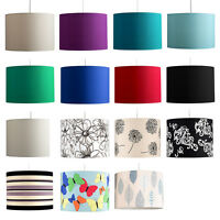 Cotton Ceiling Pendant Shade Easy Fit Fabric Drum Kitchen Room Bedroom Light