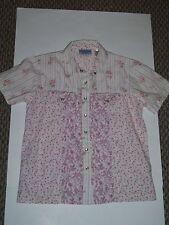 Women's Wrangler blues Blouse / Shirt Snaps  Short Sleeve Flowers Size S/CH/P