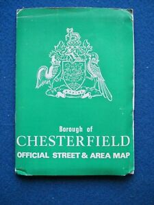 Chesterfield Official Street Map - 1977 in V.G.C