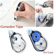 2PCS School Black Roller Study Out 30m Correction Tape Office Stationery