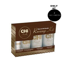 CHI Keratin Revamp Kit 12 oz Shampoo, Conditioner, Leave In & Silk Infusion NIB