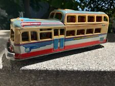 """1950s Friction Marusan 2 Deck Overland Bus, 12.5"""" Excellent Condition"""