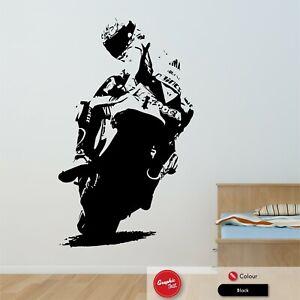 Superbike Motorbike Vinyl Wall Art Sticker Boys Bedroom Decal