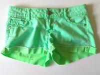 LEI Women's Ashley Low Rise Green Mini Shorts Size 1 Stretch