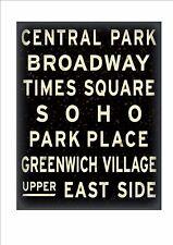 Signo de reproducción de metro de Nueva York NYC Metro signo Broadway Times Square