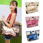 Women's Clear Transparent Jelly Candy Handbag Tote Shoulder Beach Bag 2 in 1 Set