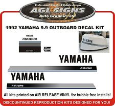 1992 YAMAHA 9.9 HP 4 Stroke Outboard Decal Kit reproductions