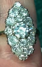 Magnificent 3.75 Ct Top Quality Antique 18ct Diamond Marquise Boat Shaped Ring