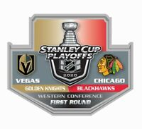 2020 STANLEY CUP NHL PLAYOFFS PIN 1ST FIRST ROUND VEGAS KNIGHTS VS. BLACKHAWKS