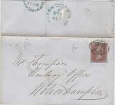 1848 QV BIRMINGHAM ASHTED ROW NAME-STAMP ON COVER WITH A 4 MARGIN 1d RED STAMP
