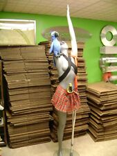 Gray Pirate Mannequin Female Posed With Crutch Leg Amp Parrot