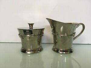 Michael Aram for waterford GARLAND ROMANCE CREAMER and sugar bowl