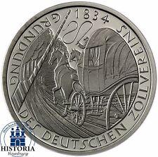 Deutschland 5 DM 1984 Stempelglanz 150. Jahre Deutscher Zollverein in Münzkapsel
