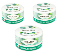 3x SHADAZZLE NATURAL MULTI-PURPOSE CLEANER/POLISH-BAKED OVEN REMOVER-EUCALYPTUS