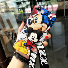 For iPhone XS Max XR 6S 7 8+ Mickey Mouse Soft Case Cover & Airbag Stand Holder