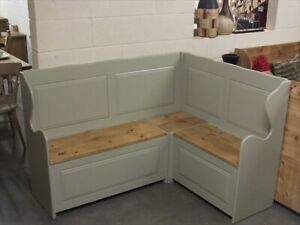 5'X4' PAINTED CORNER MONKS BENCH RECLAIMED SEAT SETTLE PEW CHOICE OF COLOURS