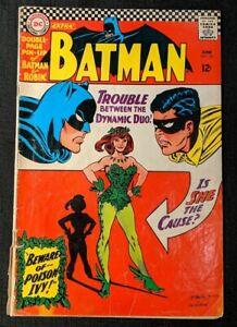 Batman #181 DC Comics 1st App Poison Ivy~Centerfold Pin-Up Attached~Comic Book