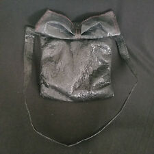 Unique HFR Designs Handmade, Fashionable, Recycled Purse.  Black with Large Bow