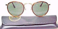 Ray-Ban USA Vintage NOS B&L Tortuga Round W1675 Classic Metals New Sunglasses