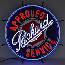 Huge Real Ul Neon sign Packard approved sevice Dealership garage wall lamp