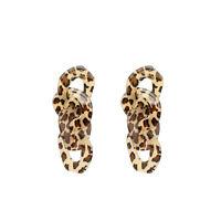Fashion Women Leopard print Acrylic Drop Dangle Stud Earrings Jewelry Gift