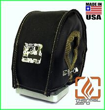 T4 TURBO BLANKET HEAT SHIELD COVER BLACK USA MADE UNIVERSAL GARRETT PRECISION