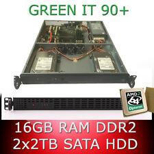 1HE / 1U Rack Server AMD Opteron 1385 Quad Core 2.70GHz 16GB RAM 2 x 2TB HDD 90+