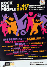 ROCK FOR PEOPLE FESTIVAL 2012 MAGAZINE ADVERT - THE PRODIGY SKRILLEX ORBITAL