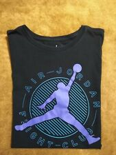 Nike Air Jordan Flight Club T-Shirt Size Medium Purple Black Jumpman