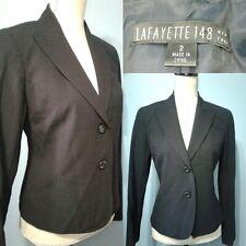 Gorgeous! Lafayette 148 New York Stretch Wool Blazer Navy Size 2 Career Jacket