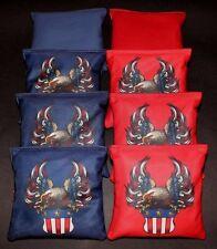 Patriotic USA Eagle Seal 8 ACA Regulation Cornhole Bean Bags Quality Handmade B6