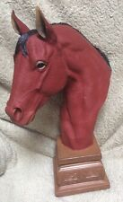 "BEAUTIFUL HORSE BUST SCULPTURE BY MASTER SCULPTOR, CARLOS ESTEVEZ - LARGE 18"""